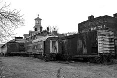 abandoned Wilkes Barre PA train yard