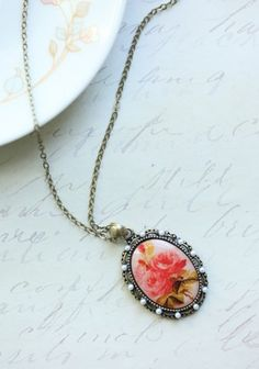 Rose Necklace, Ruche, $11.99