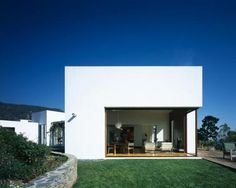 cubical shape house with flat roof