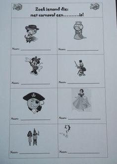 * Coöperatief: Zoek iemand die... Gedaan met kleuters! Data, School, Character, Carnival, Lettering