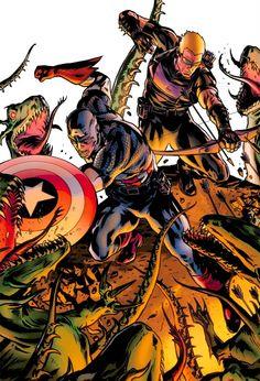 Cap & Hawkeye by Patrick Zircher