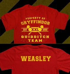 Gryffindor Custom Name Quidditch Team Unisex T-Shirt