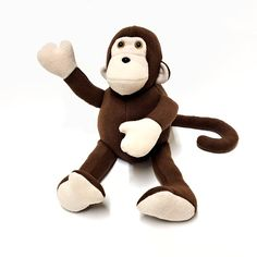 MONKEY Plush Brown Champagne by BUGODILE on Etsy