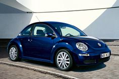 German marquee unveils another upgraded variant of its iconic vehicle 'Beetle' that is now called as 'Volkswagen New Beetle' or Volkswagen Beetle' at the 2012 Expo in Delhi. Volkswagen New Beetle, Beetle Car, Blue Beetle, Cute Cars, Vw Beetles, Dream Cars, Dark Blue, Vehicles, Wheels
