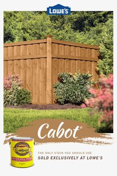 Stain like a pro with exclusive top brands like Cabot Stain in stock. Wood Fence Design, Privacy Fence Designs, Fence Landscaping, Backyard Fences, Exterior Stain, Backyard Paradise, Landscape Designs, Cabot Stain, Outdoor Projects