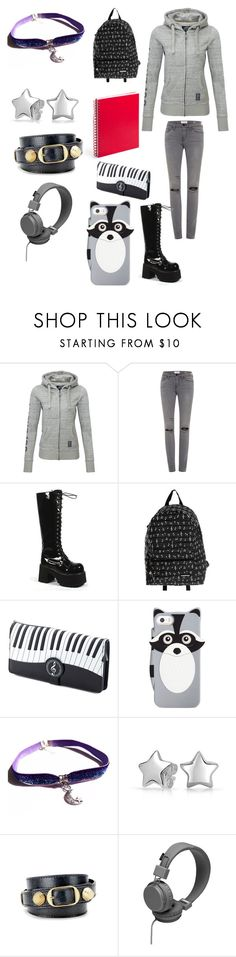 """Creepypasta: What Zero would wear to school"" by ender1027 ❤ liked on Polyvore featuring Superdry, Frame, Demonia, Yak Pak, RED, Kate Spade, Bling Jewelry and Balenciaga"