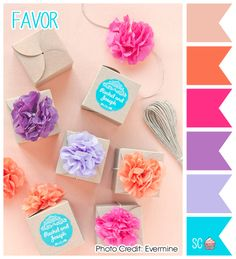 Favor - Color Palette  http://inspiresweetness.blogspot.com