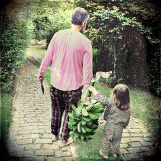 """""""Aqui se colhe banana no pé, que é dividida com a turma da casa.  #cofiwear #cofimaker #nature #orgânico #calçaxadrez #coficaverna"""""""