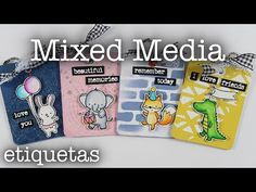ETIQUETAS MIXED MEDIA 🌟 Súper simples 💖 Mixed Media Cuqui - YouTube Scrapbook Cards, Friends In Love, Tags, Youtube, Layout, Diy, Paper, Pretty People, Tights