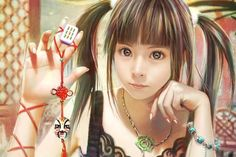 Beautiful Girl, CG, Mahjong  #Manga #Illustration #Anime