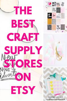 The best craft supply stores on etsy
