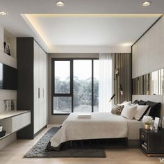22 Modern Luxury Bedroom Design For Amazing Bedroom Inspiration Modern Luxury Bedroom, Contemporary Bedroom Decor, Luxury Bedroom Design, Master Bedroom Design, Trendy Bedroom, Modern Room, Luxurious Bedrooms, Home Bedroom, Interior Design