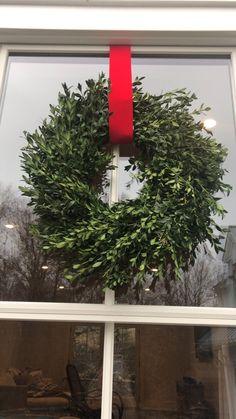 Hanging wreaths for Christmas — Mrs. Christmas Wreaths For Windows, Xmas Wreaths, Christmas Candles, Christmas Holidays, Outdoor Christmas, Christmas Ideas, Christmas Tree, Stick Wreath, Wreath Hanger