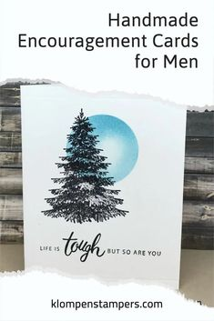 The men in our life need cards of encouragement and support just as much as our girlfriends. The handmade cards I'm teaching how to make today are quick cards to make AND they have use some techniques that make creating cards extra fun. Follow along with the video tutorial! www.klompenstampers.com Quick Cards, Encouragement, Fun, How To Make, Card Making Techniques, Masculine Cards, Handmade, Life, Hand Made