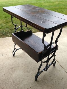 Cedar outdoor table- BBQ or use as plant stand $200.00