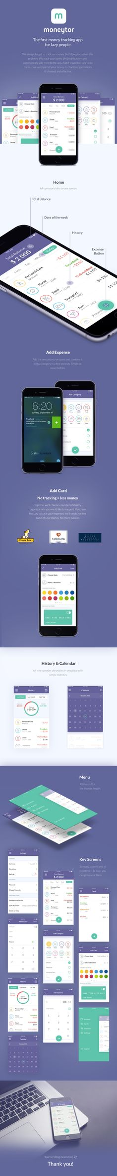 Moneytor Expenses tracking app for lazy people on Behance