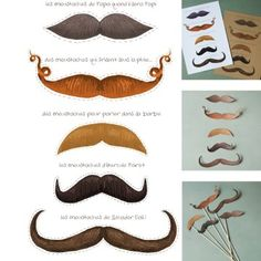 A l'occasion de la fête des pères, amusez-vous à déguiser votre papa avec des simples moustaches découpées dans du papier. Sur Marie Claire Idées.