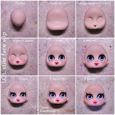 Face Mold, Fimo Clay, Elsa Frozen, Cake Toppers, Decor Ideas, Lol, Etsy, Spoons, Resin