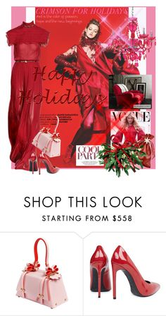 """""""*CRIMSON FOR HOLIDAYS*"""" by mariapia65 ❤ liked on Polyvore featuring Niels Peeraer, Ralph Lauren Home, Yves Saint Laurent, reddress, luisaviaroma, Christmas2015 and holiday2015"""