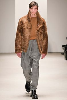 Jil Sander Fall 2015 Menswear - Collection - Gallery - Style.com // Shearling, Shades of Ochre