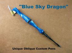 Custom Handmade Oblique Pen Holder Authentic by UniqueObliques