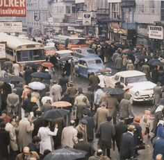 People going to work in Karaköy. - Sezinus - - People going to work in Karaköy. Istanbul Pictures, Turkish People, Super Sport Cars, Urban Architecture, 1975, Ottoman Empire, 14th Century, Going To Work, Vintage Photography