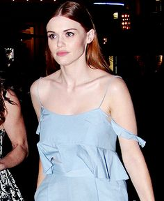 Holland leaving the Rachel Zoe's pop up store.
