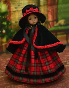 Victorian Caroler  Holiday Dress, Outfit, for 13  Dianna Effner Little Darling | eBay