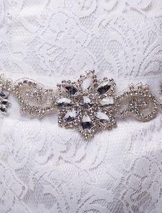 Diamantes de imitación boda media faja para la novia - Milanoo.com