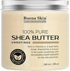 PURE Shea Butter - Natural, Organic Cold-Pressed Raw Unrefined Virgin Premium Grade - Product of Ghana - 8 oz Diy Body Butter, Shea Butter, All Natural Skin Care, Diy Skin Care, Stretch Marks, Lotion, The 100, Organic, Pure Products