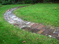 Brick Runnel to channel rain water to garden