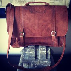 Messenger/Laptop Bag....Handcrafted Leatherwork    info at http://www.facebook.com/SciglianoDesigns