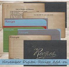 Digital/Hybrid 3x5 Recipe Cards Printable Crafts, Printable Planner, Free Printables, Making Recipe, Create A Recipe, Recipe Pics, Cookbook Ideas, Book Binder, Recipe Books