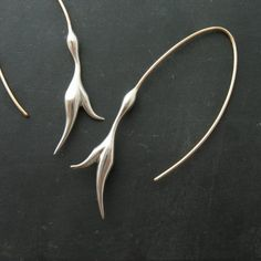 flourish / 14K gold and sterling silver earrings by April Kawaoka Jewelry.