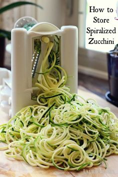 how to store spiralized zucchini so you can spiralize once and have it ready!