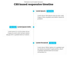 Pure CSS3 Responsive Timeline, #Code, #CSS, #CSS3, #HTML, #HTML5, #Resource, #Responsive, #Snippets, #Timeline, #Web #Design, #Development