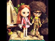 Moonrise Kingdom Blythes by My Delicious Bliss, on Exhibition at the Junie Moon Gallery APril 22nd-May16th