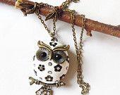 Cute owl necklace
