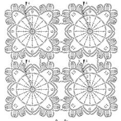 small doily flowers.