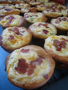 bacon quiche tartlets for make ahead breakfasts