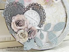 A Photo Tutorial by Mona on her creation for the Simon Says Stamp Monday challenge (Clocks and Gears) March 2014