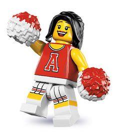 LEGO Minifigures Series 8 (13) Red Cheerleader - Cổ động viên đỏ