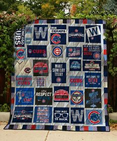 Chicgo Cubs, Cubs Win, Chicago Cubs Shirts, Chicago Cubs Baseball, Go Cubs Go, Man Quilt, Mlb Teams, Cubbies, Scrappy Quilts