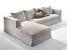 Fabric sofa with chaise longue METRO   Sofa with chaise longue Metro Collection By Marac