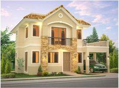 Mi casa House Goals, Dream Home Design, Home Design Plans, House Design, Mission Hills, Philippine Houses, Two Storey House, House Elevation, Model Homes