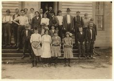 """Library of Congress. """"This group represents most of the workers in the Cape Fear Cotton Mills, except the very smallest. There were 5 or 6 apparently under 13. See North Carolina report. Location: Fayetteville, North Carolina."""" November 1914."""