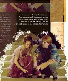 Fremione is actually an incredibly beautiful ship Harry Potter Puns, Harry Potter Ships, Harry Potter Tumblr, Harry Potter Love, Harry Potter Characters, Harry Potter World, Fred And Hermione, Hermione Granger, Weasley Twins