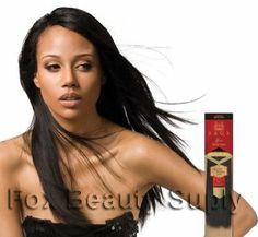"""MilkyWay Saga Gold Remy Yaky 100% Human Hair Extensions Weave 16"""" Color 1 Jet Black by Milky Way. $57.41. Maintenance-Free. Tangle-Free. Healthy. Easy to Curl. Shed-Free. Only Young, healthy human hair is handpicked and aligned unidirectionally. Unidirectional Alignment allows for elimination of all harsh chemical treatments that typically cause tangles and breakage: hair remains thicker, stronger and healthier. It is the smoothest, bounciest, and most lustrous hair..."""