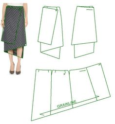 FREE PATTERN ALERT: Pants and Skirts Sewing Tutorials - On the Cutting Floor: Printable pdf sewing patterns and tutorials for women Skirt Patterns Sewing, Sewing Patterns Free, Clothing Patterns, Pattern Skirt, Wrap Skirt Patterns, Skirt Sewing, Pattern Sewing, Victoria Beckham, Fashion Sewing