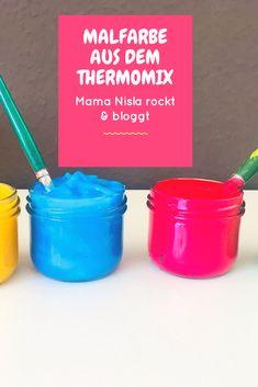 Ungiftige Malfarbe aus dem Thermomix selbst hergestellt. Einfach, toll, leicht zu machen. #diy #diykids #thermomixrezepte